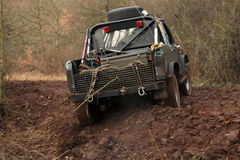 Off-road 4x4 lifestyle and hobby. Blur motion. Stock Photos