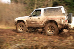 Off-road 4x4 lifestyle and hobby. Blur motion. Royalty Free Stock Image