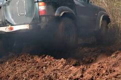 Off-road 4x4 lifestyle and hobby. Blur motion. Royalty Free Stock Images