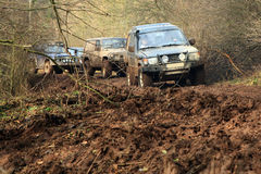 Off-road 4x4 lifestyle and hobby. Blur motion. Stock Photography