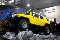 Off road. An off road car named cruiser from toyota n its exhibition hall in 2007 international auto show GuangZhou. it is from 19/11/2007 to 25/11/2007. Photo Stock Photos