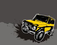 Off-road. Jeep. Vector illustration Royalty Free Stock Photo