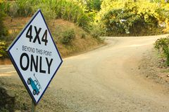 Off-Road Adventure: 4 x 4 Only! royalty free stock images