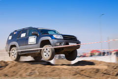 Off road auto rally raid 4X4 sprint race. Stock Photography