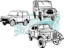 Off-Road Auto's - Vectorreeks Stock Afbeeldingen