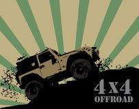 Off-road background vector illustration