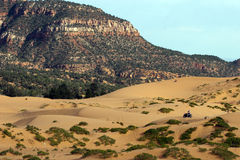 Off-road bicycle at Coral Pink Sand Dunes Stock Images
