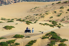 Off-road bicycles at Coral Pink Sand Dunes Royalty Free Stock Images
