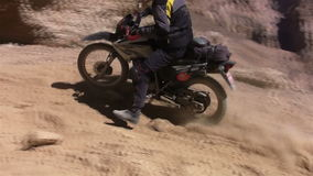 Off-road on bikes in Himalayas stock video footage