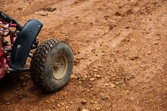 Off-road buggy tire on dirt road Stock Photography