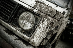 Off road car. Participating in off-road challenge Royalty Free Stock Photography