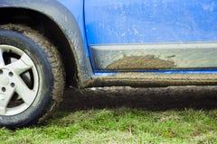 Off road car detail full of mud Royalty Free Stock Photos