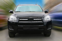 Off-road car driving Stock Photography