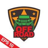 Off-road car logo illustration, emblem. Emblem for Adventurer logo, Logo transportation, Business modern logo Stock Images