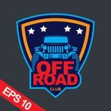 Off-road car logo illustration, emblem. Emblem for Adventurer logo, Logo transportation, Business modern logo Stock Photos