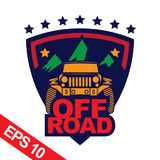 Off-road car logo illustration, emblem Stock Photography