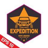 Off-road car logo illustration, emblem. Emblem for Adventurer logo, Logo transportation, Business modern logo Stock Photo