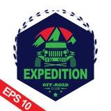 Off-road car logo illustration, emblem. Emblem for Adventurer logo, Logo transportation, Business modern logo Stock Photography