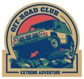 Off-road car logo, safari suv, expedition offroader. Royalty Free Stock Photography