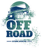 Off-road car logo, safari suv, expedition offroader. Vector illustration for sticker, poster, emblem or badge Stock Photo