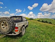 Free Off Road Car On The Harghita Mountains Stock Photography - 192410662