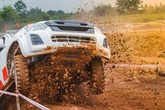 Off-road car ramping Royalty Free Stock Image