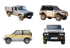 Off road car set Royalty Free Stock Photography