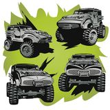Off-Road cars. Objects are located on a separate layer Royalty Free Stock Photo