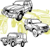 Off-Road Cars - Vector set. Royalty Free Stock Photo