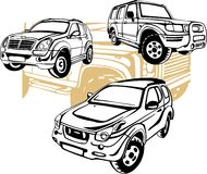 Off-Road Cars - Vector set. Stock Photo