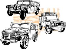 Off-Road Cars - Vector set. Stock Image
