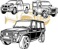Off-Road Cars - Vector set. Royalty Free Stock Photos