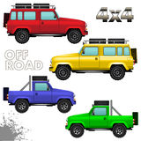 Off road cars Royalty Free Stock Images