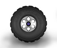 Off-road cartoon tyre. Stock Photos