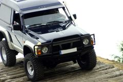Off-road competition. Nissan patrol diuring off-road competitio Royalty Free Stock Images