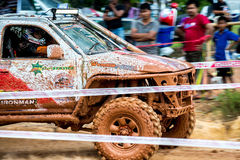 Off-road 4x4 competition. Off-road racing on August 2014 at Suratthani. Thailand,Free of charge,Open event Royalty Free Stock Image