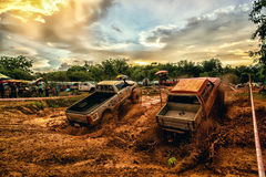 Off-road 4x4 competition. Off-road racing on August 2014 at Suratthani. Thailand,Free of charge,Open event Royalty Free Stock Photos