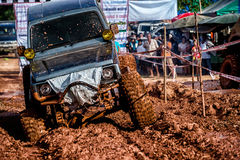 Off-road 4x4 competition. Off-road racing on August 2014 at Suratthani. Thailand,Free of charge,Open event Stock Photos