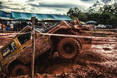 Off-road 4x4 competition. Off-road racing on August 2014 at Suratthani. Thailand,Free of charge,Open event Stock Images