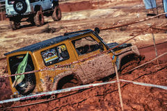 Off-road 4x4 competition. Off-road racing on August 2014 at Suratthani.Thailand,Free of charge,Open event Stock Photo