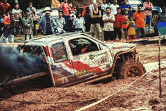 Off-road 4x4 competition. Off-road racing on August 2014 at Suratthani. Thailand,Free of charge,Open event Stock Image