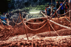 Off-road 4x4 competition. Off-road racing on August 2014 at Suratthani. Thailand,Free of charge,Open event Royalty Free Stock Photography