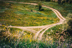 Off-Road crossroads. In the field, Tula region stock images