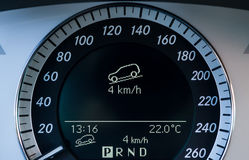 Off-road dashboard showing level information Stock Images