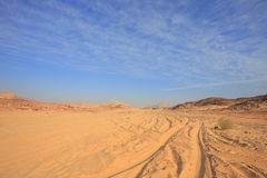 Off-road in the desert Royalty Free Stock Photography