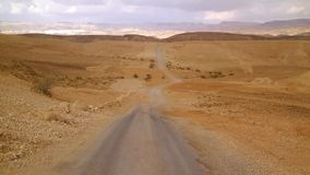 Off road in desert landscape stock footage