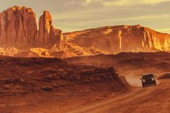 Off Road Drive in Arizona Royalty Free Stock Images