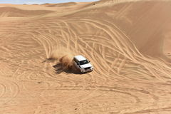 Off Road Driving in the Wahiba Desert Royalty Free Stock Image