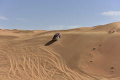 Off Road Driving in the Wahiba Desert Stock Photo