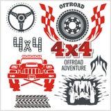 Off-road Elements And Emblem - Vector Set Stock Photo